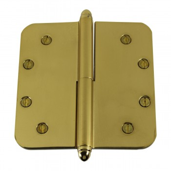 <PRE>5inch Lift Off Right Brass Door Hinge Radius Helmet Tip </PRE>zoom6