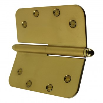 <PRE>5inch Lift Off Right Brass Door Hinge Radius Helmet Tip </PRE>zoom8