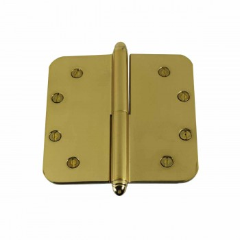 <PRE>5inch Lift Off Right Brass Door Hinge Radius Helmet Tip </PRE>zoom1