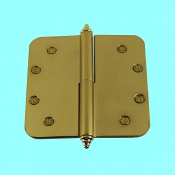 <PRE>5 inch Lift Off Right Brass Door Hinge Radius Decor Tip </PRE>zoom2