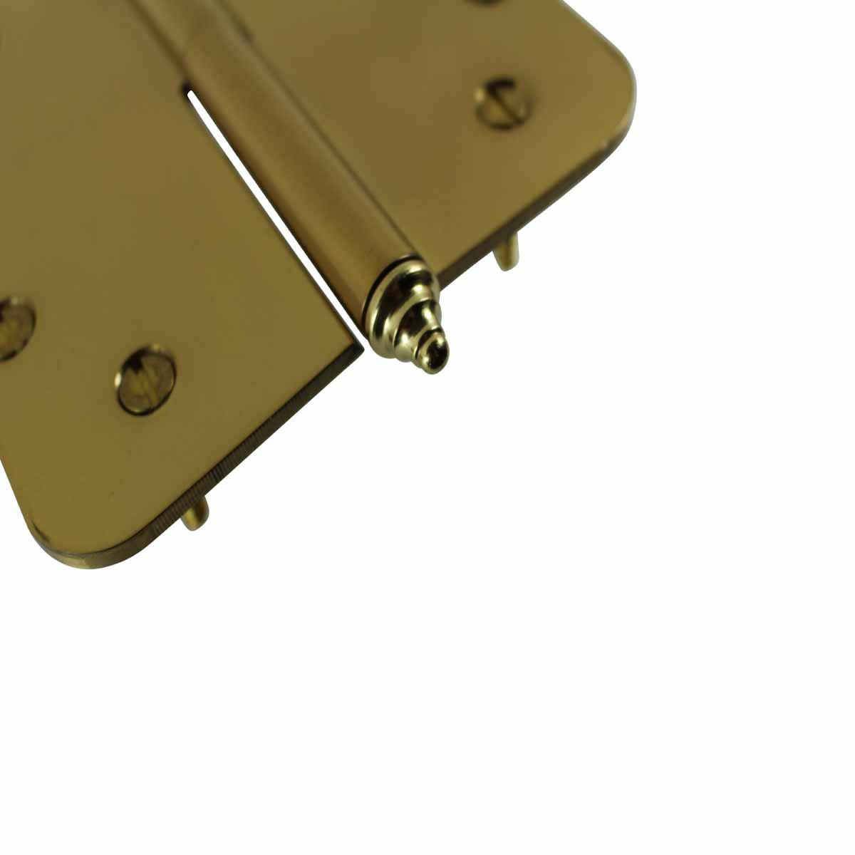 5 inch Lift Off Right Brass Door Hinge Radius Decor Tip Door Hinges Door Hinge Solid Brass Hinge