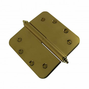 <PRE>5 inch Lift Off Right Brass Door Hinge Radius Decor Tip </PRE>zoom4