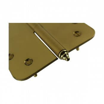 <PRE>5 inch Lift Off Right Brass Door Hinge Radius Decor Tip </PRE>zoom7