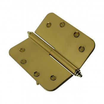 <PRE>5 inch Lift Off Right Brass Door Hinge Radius Decor Tip </PRE>zoom9