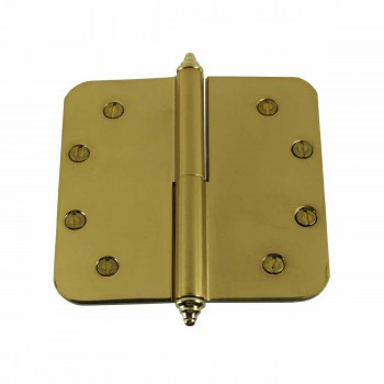 <PRE>5 inch Lift Off Right Brass Door Hinge Radius Decor Tip </PRE>zoom1