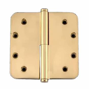 <PRE>5inch Lift Off Right Brass Door Hinge Radius Coin Tip </PRE>zoom1
