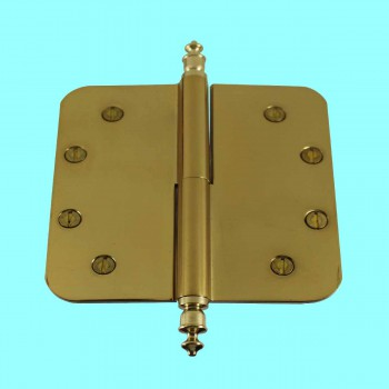 <PRE>5inch Lift Off Right Brass Door Hinge Radius Urn Tip </PRE>zoom2