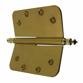 <PRE>5inch Lift Off Right Brass Door Hinge Radius Urn Tip </PRE>zoom5