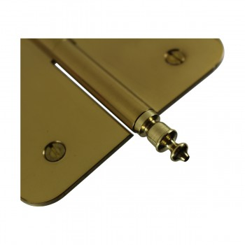<PRE>5inch Lift Off Right Brass Door Hinge Radius Urn Tip </PRE>zoom7
