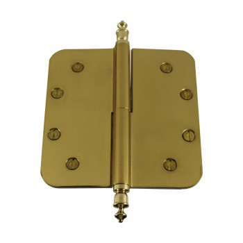 <PRE>5inch Lift Off Right Brass Door Hinge Radius Urn Tip </PRE>zoom9