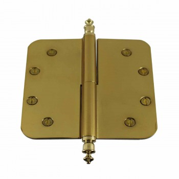 <PRE>5inch Lift Off Right Brass Door Hinge Radius Urn Tip </PRE>zoom1