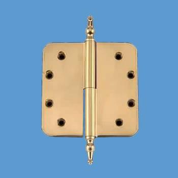 5in Lift Off Right Brass Door Hinge Radius Temple Tip Door Hinges Door Hinge Solid Brass Hinge