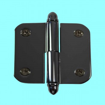 2 Lift Off Right Chrome Cabinet Hinge Radius Brass Helmet Door Hinges Door Hinge Solid Brass Hinge