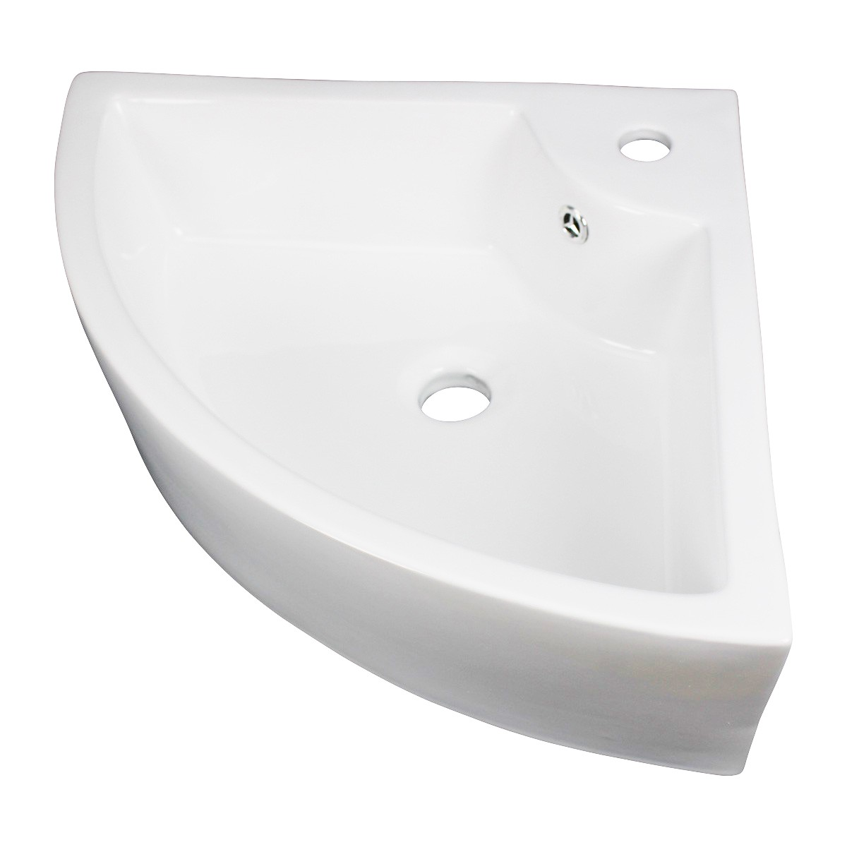 Small Bathroom Corner Sink Above Counter Angled Vessel Faucet Hole and Overflow bathroom vessel sinks Countertop vessel sink Corner Bathroom Sink