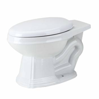 Toilet Part White Sheffield Elongated Rear Entry Toilet Bowl Only15290grid