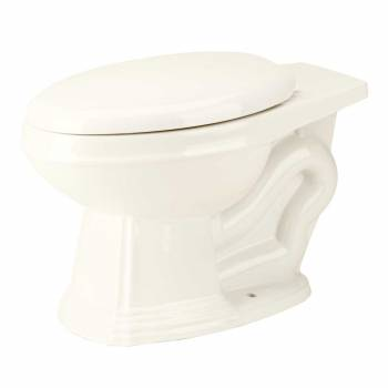 Toilet Part Bone Vitreous Sheffield Elongated Rear Entry Toilet Bowl Only15291grid