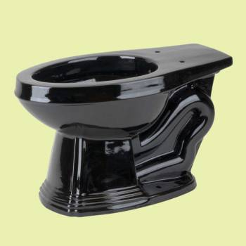 Toilet Parts - Black Sheffield Deluxe Elongated Toilet Bowl Only L-pipe For High-tank by the Renovator's Supply