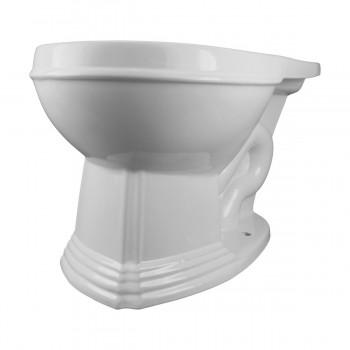 Round Toilet Bowl For High Tank Toilet White White Toilet Bowl Only Vitreous China Toilet Bowl Only Glossy Toilet Bowl Only