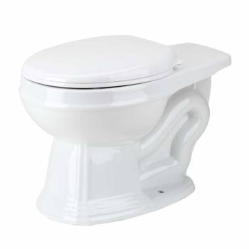 White Sheffield Deluxe Round Toilet Bowl Only L-pipe High-tank