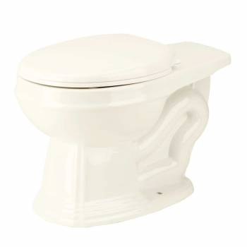Round Toilet Rear Entry Bowl For High Tank Toilet