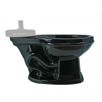 Toilet Part Black Sheffield Top Entry Toilet Bowl Only Bathroom Toilet Bowl Only Vitreous China Toilet Bowl Only Glossy Toilet Bowl Only
