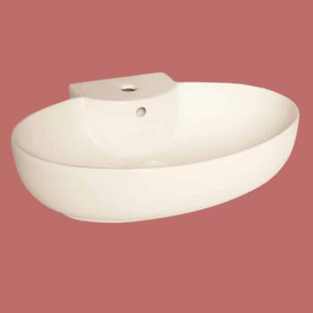 <PRE>Bathroom Vessel Sink Oval Biscuit China Faucet Hole </PRE>zoom2