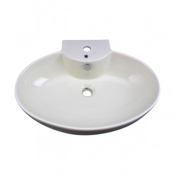 <PRE>Bathroom Vessel Sink Oval Biscuit China Faucet Hole </PRE>zoom3