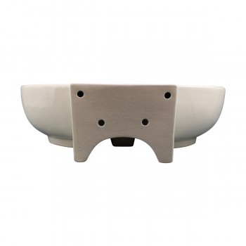 <PRE>Bathroom Vessel Sink Oval Biscuit China Faucet Hole </PRE>zoom5