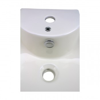 <PRE>Bathroom Vessel Sink Oval Biscuit China Faucet Hole </PRE>zoom7
