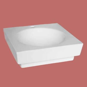 Bathroom Vessel Sink Square White China Faucet Overflow Hole bathroom vessel sinks Countertop vessel sink Bathroom Vessel Sink