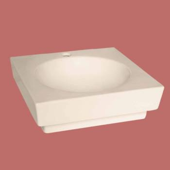 <PRE>Bathroom Vessel Sink Square Bone China Faucet Overflow Hole </PRE>zoom2