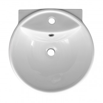 <PRE>Bathroom Vessel Above Counter Sink White China Single Faucet Hole With Overflow</PRE>zoom3