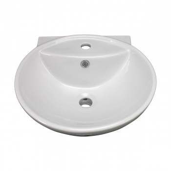<PRE>Bathroom Vessel Above Counter Sink White China Single Faucet Hole With Overflow</PRE>zoom9