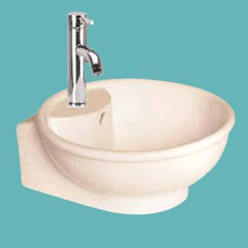 spec-<PRE>Renovator's Supply White Large Bathroom Above Counter Vessel Sink Round Gloss</PRE>