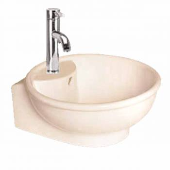 <PRE>Renovator's Supply White Large Bathroom Above Counter Vessel Sink Round Gloss</PRE>zoom1