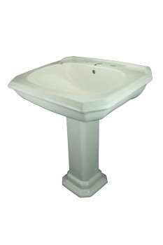 Bath Pedestal Sink Bone China 8