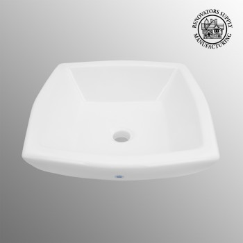 spec-<PRE>Bathroom Vessel Sink White China Metro Square </PRE>