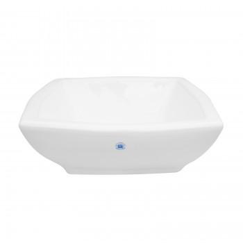Bathroom Vessel Sink White Porcelain Metro Square bathroom vessel sinks Countertop vessel sink ceramic porcelain basin remodel
