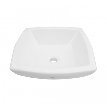 Bathroom Vessel Sink White China Metro Square 15351grid