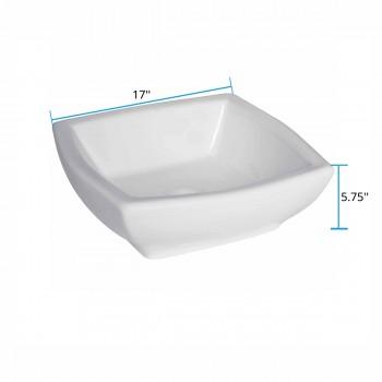 spec-<PRE>Bathroom Vessel Sink White China Metro Square </PRE>