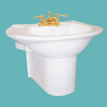 <PRE>Renovator's Supply Half Basin Pedestal Sink Wall Mount Bathroom Basin White</PRE>zoom2
