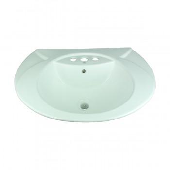 <PRE>Renovator's Supply Half Basin Pedestal Sink Wall Mount Bathroom Basin White</PRE>zoom3