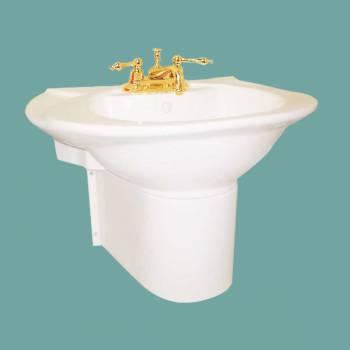 <PRE>Half Pedestal Sink Wall Mount Bathroom Basin Bone </PRE>zoom2