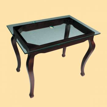 Provincial Leg Glass Vanity Clear - Console Sinks, console sink info & unique accessories, quantity discounts on Console Sinks, pedestal sinks, bathroom fixtures, bathroom sinks, sink faucets & free shipping by Renovator's Supply.