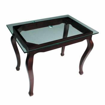 <PRE>Bathroom Clear Glass Console Table Provincial Leg Top Mount </PRE>