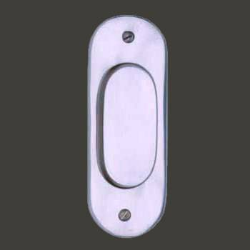 <PRE>Door Pull Chrome on Solid Brass 5 1/16inchH </PRE>zoom2