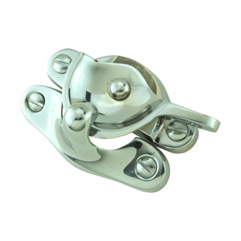 <PRE>Traditional Window Sash Lock Brass Bright Chrome </PRE>zoom8