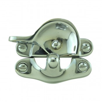 Traditional Window Sash Lock Brass Bright Chrome