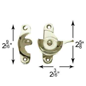 spec-<PRE>Traditional Window Sash Lock Brass Bright Chrome </PRE>