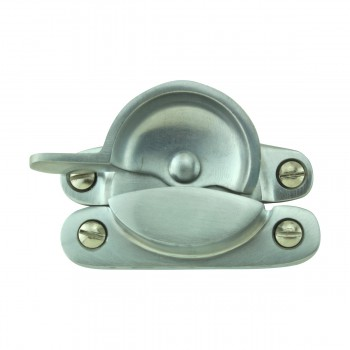 <PRE>Traditional Solid Brass Window Sash Lock Satin Chrome  </PRE>zoom3